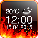 Fire Digital Weather Clock icon