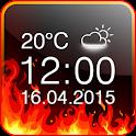 Fire Digital Weather Clock icon