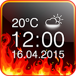 Fire Digital Weather Clock 2.0 Apk