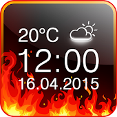 Fire Digital Weather Clock