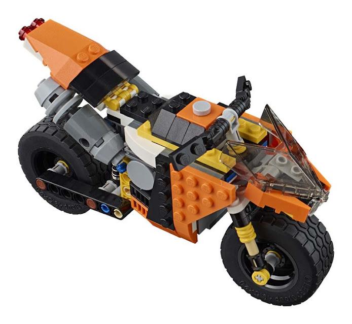 Contenido de Lego® 31059 Gran Moto Callejera