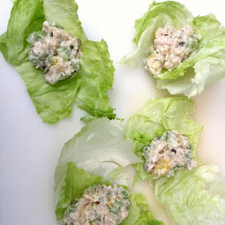 Ranch Chicken Salad Lettuce Wraps