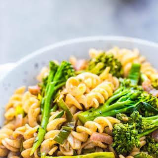 Broccolini + Leek Pasta w/ Balsamic Vinaigrette.
