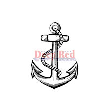 Deep Red Cling Stamp 1.5X2 - Anchor UTGÅENDE