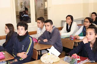 Photo: Rencontre avec les élèves de l'école latine de Naplouse qui se préparent à voyager en France
