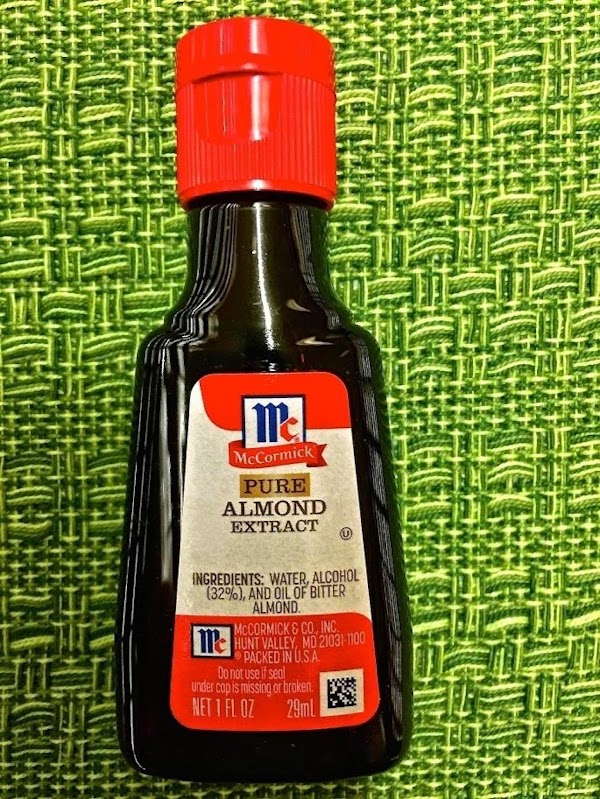 * Pure Almond Extract: is made from three primary ingredients: alcohol, water, and bitter...