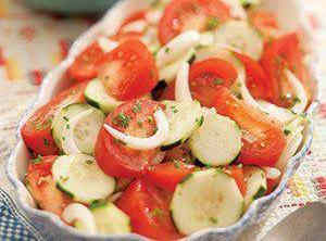 Tomato, Onion And Cucumber Salad Recipe