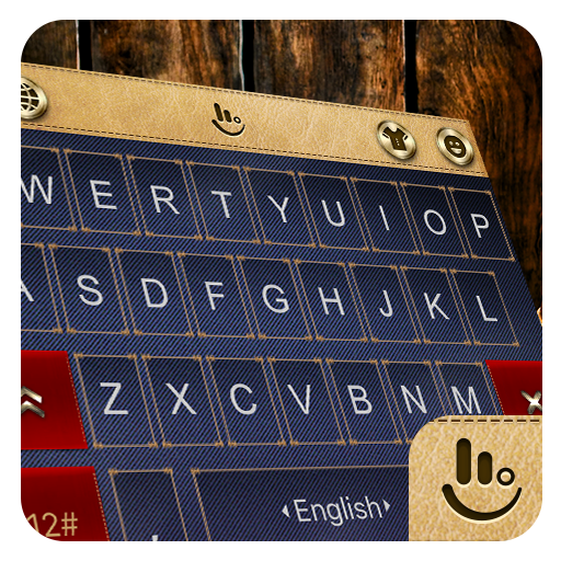 Gold Canvas Jeans Keyboard Theme