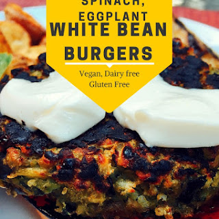 Spinach, Eggplant and White Bean Burgers