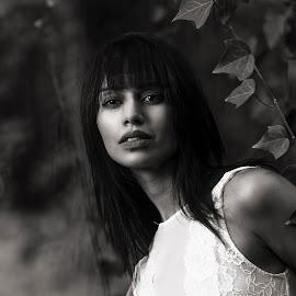 Parian  by Leanne Vorster - Black & White Portraits & People ( makeup, outdoor, monochrome, model, portraiture )