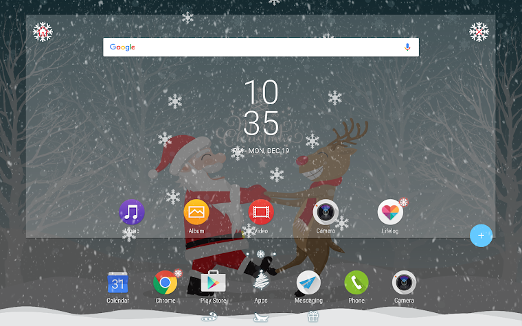 Santa & Reindeer for Xperia™ Screenshot
