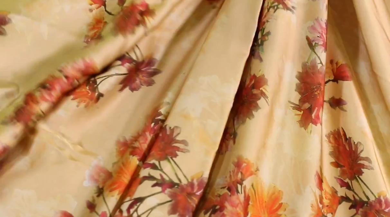 flower viscose fabric