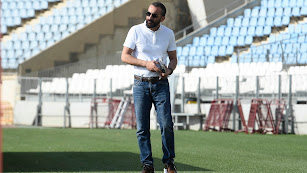 Mohamed El Assy, en el Estadio de los Juegos Mediterráneos.
