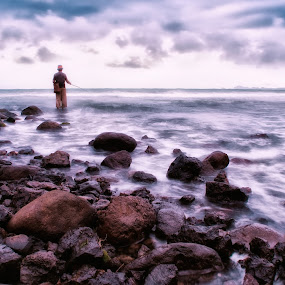 traditional fishing by Aep Saepudiah - Landscapes Beaches