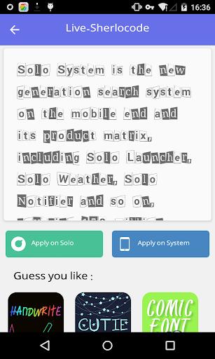 Stylish font 5 - Solo Font