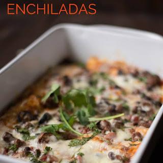 Ground Beef Enchiladas.