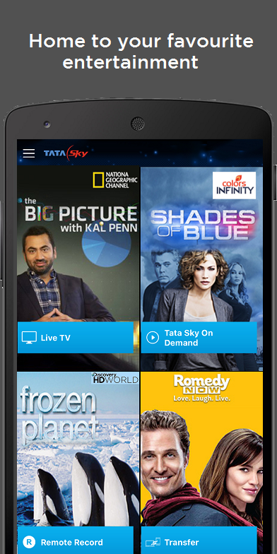 Tata Sky Mobile- screenshot