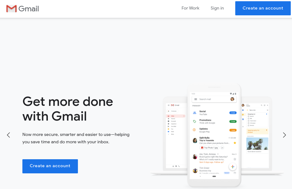 get more done with gmail account