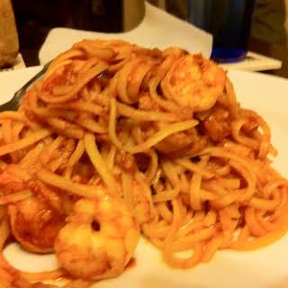 Shrimp and Angel Hair Fra Diavolo.