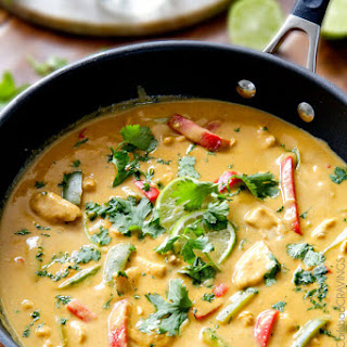 Chicken in Coconut Mango Verde Sauce.
