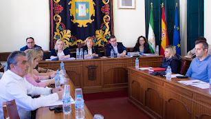Imagen del Pleno en el Ayuntamiento de Níjar.