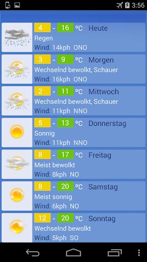 Wetter Wien screenshot 1
