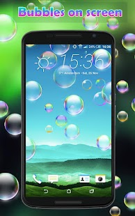 Bubbles on your screen - náhled