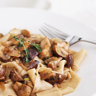 Toasted Pappardelle with Mushroom Ragu