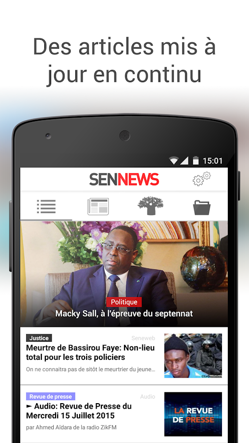 SenNews- screenshot