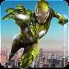 Grand Iron Superhero Flying Robot City Rescue 2018