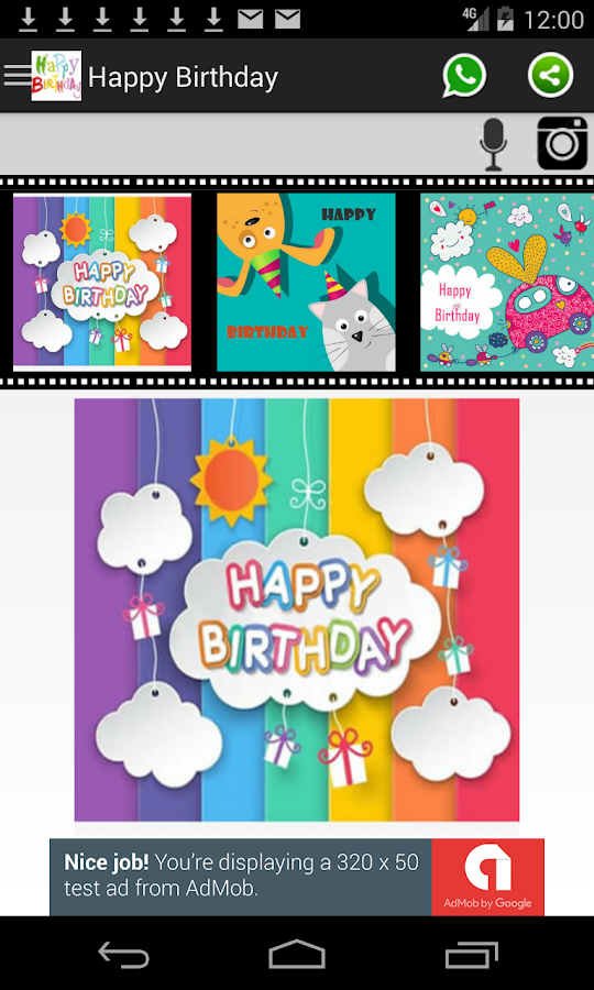 Happy Birthday Card Frame Android Apps on Google Play – Happy Birthday Video Card