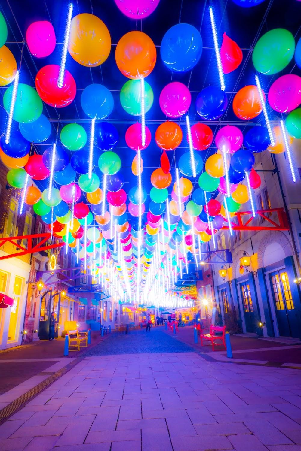 Huis Ten Bosch illumination Kingdom of light Happy balloon street3