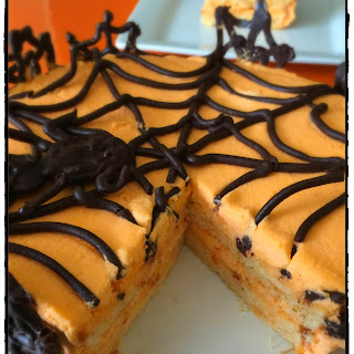 Halloween Themed Orange Cake