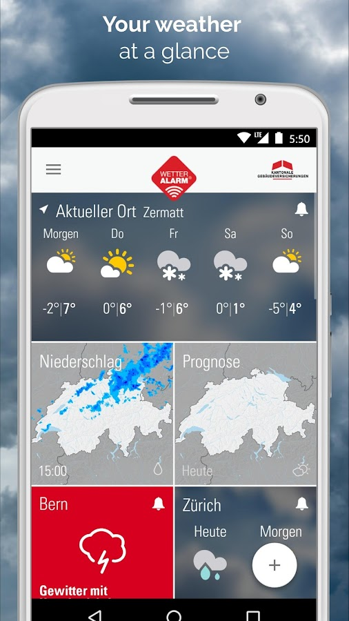 Weather Alarm for Switzerland- screenshot