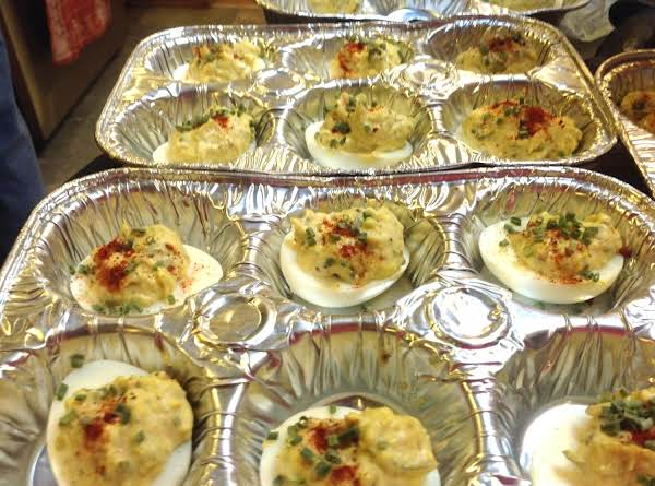 Muffin Cup Deviled Eggs