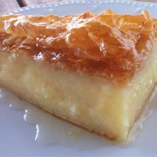 Traditional Greek Galaktoboureko recipe (Greek Custard Pie with Syrup).