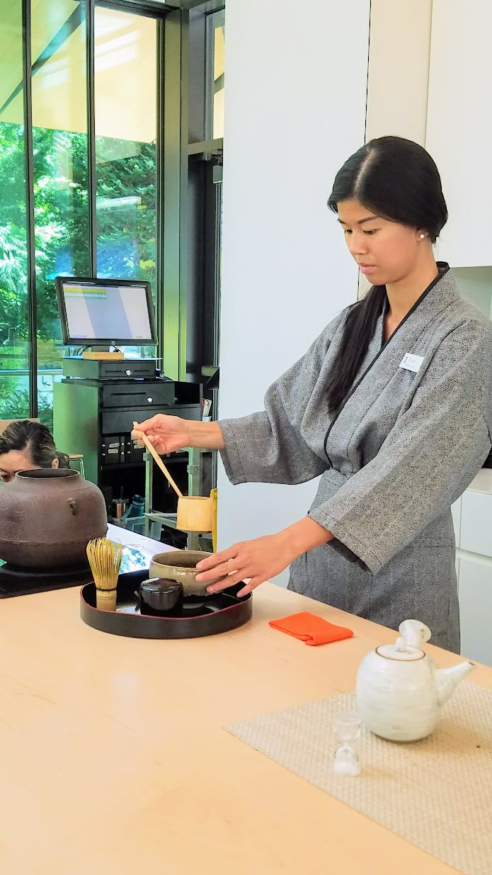 Visiting the Portland Japanese Garden Umami Cafe offering Japanese teas and snacks