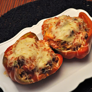 Traditional Stuffed Red Peppers.