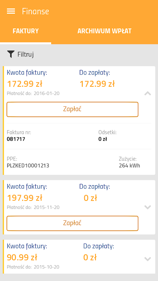 PGE mBOK- screenshot