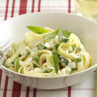 Pea, Ricotta and Mint Fettuccine