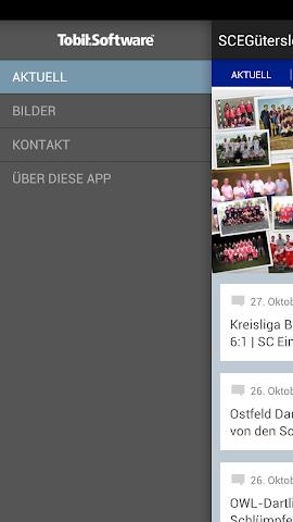 android SC Eintracht Gütersloh Screenshot 1