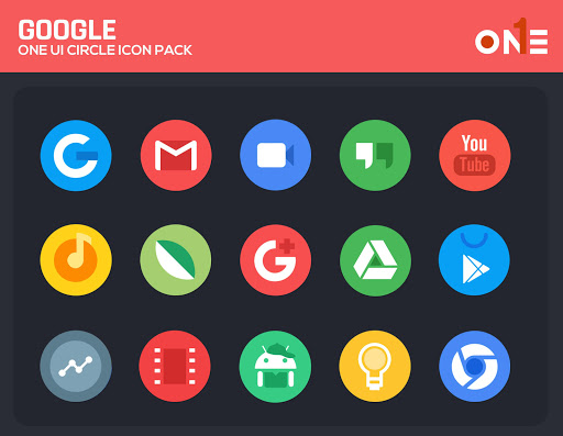 Screenshot for OneUI Circle Icon Pack - S10 in United States Play Store