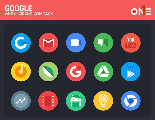 OneUI Circle Icon Pack - S10 Screenshot Image