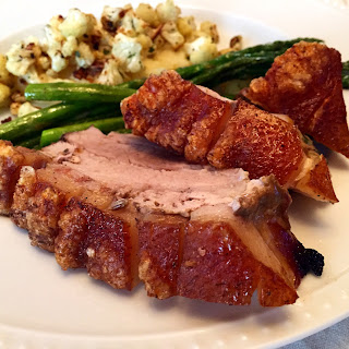 Roasted Pork Belly with Crackling.