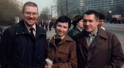 Photo: 19840400 Korpela Asko, Brjuhanov Anja, Sergei - Moskova