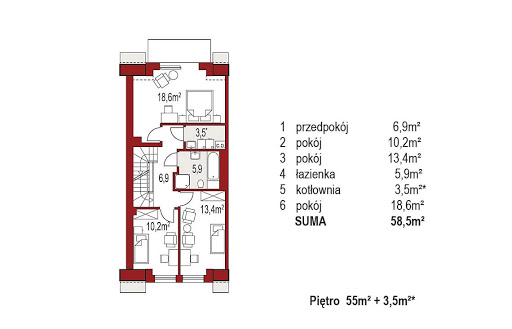 Diana A segment lewy - Rzut piętra