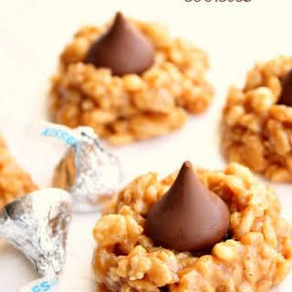 No Bake Peanut Butter Kiss Cookies.