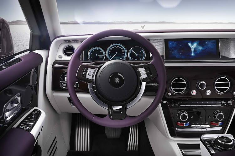 Technology such as the digital screens, has been well integrated into the luxury feel. Picture: ROLLS-ROYCE MOTOR CARS LTD