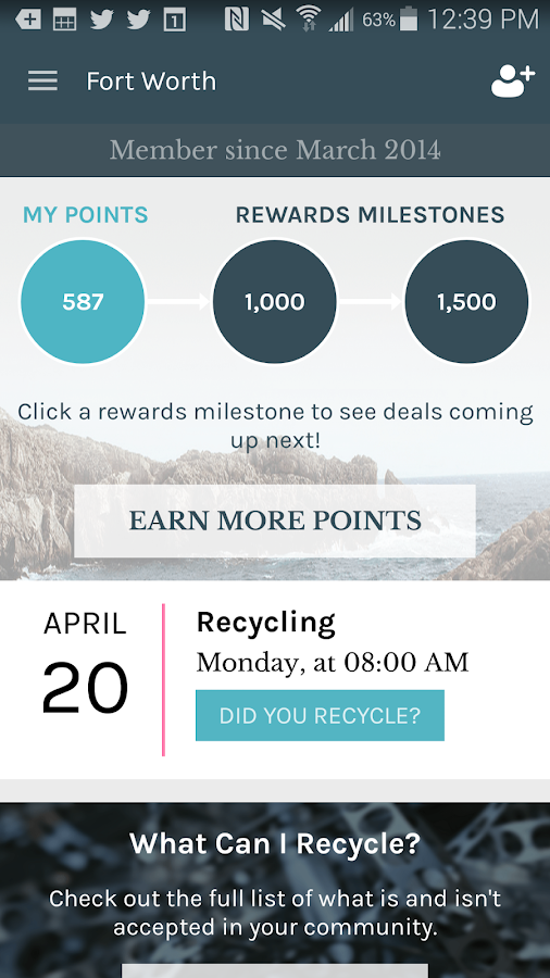 Recyclebank- screenshot