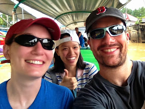 Photo: Taking a tour of Phang Nga Bay via Long Tail boat with our guide, Jo
